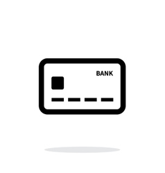 Debit card icon on white background vector