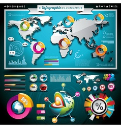 design set infographic elements vector image