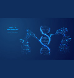 Digital image genetic engineering concept vector