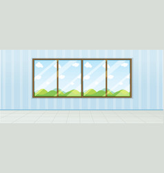 empty room nature view vector image