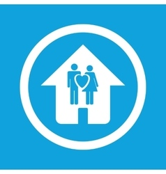 Family house sign icon vector image