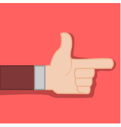 Finger direction gun hand gesture graphic vector