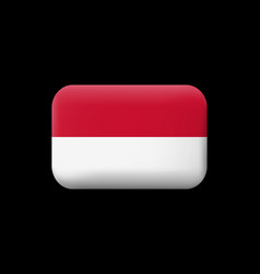 Flag of monaco matted icon and button vector