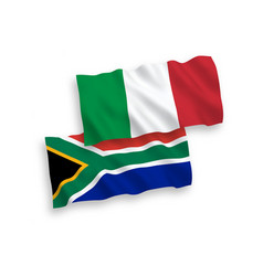 Flags italy and republic south africa on a vector
