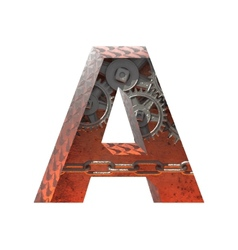 Gears cutted figure a Paste to any background vector
