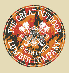 Great outdoor woodsman lumber company vector
