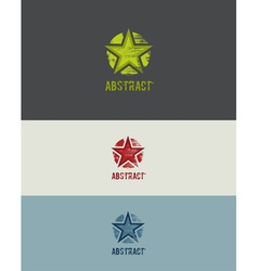 Grunge star design element vector