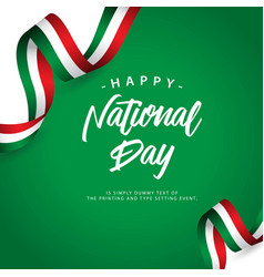 Happy italy national day template design vector