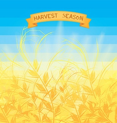 Harvest season vector