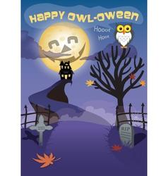 Haunted Halloween Night vector image