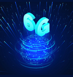 high speed 6g global mobile networks business vector image