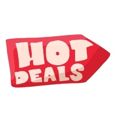 Hot deals icon cartoon style vector