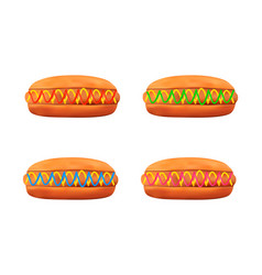 Hotdog in on white background vector
