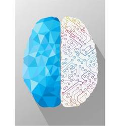 Human brain on creative concept vector image