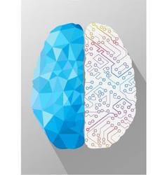 Human brain on creative concept vector