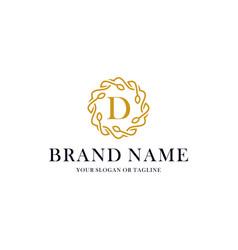 Initial letter d luxury ornament logo design vector