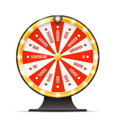 Luck wortine weel turning lottery layerd 3d vector