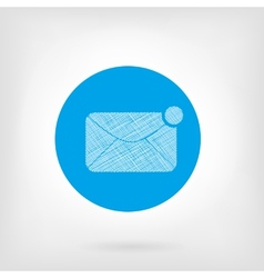 Mail letter icon in flat and doodle style vector image