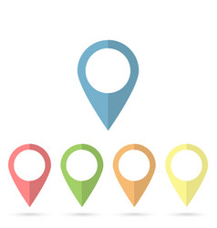 map pin flat design style modern icon marker sign vector image