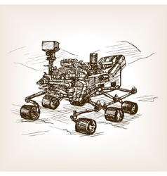 Mars rover sketch vector