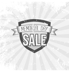 Memorial Day Sale Shield and Ribbon vector