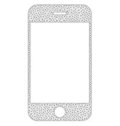 Mesh smartphone icon vector