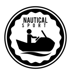 nautical sport vector image