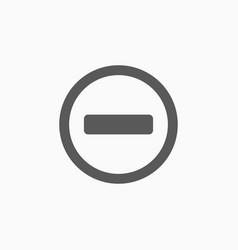 No entry icon vector