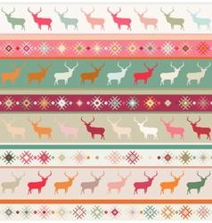 Norwegian Christmas seamless pattern vector