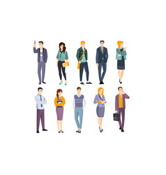 office workers in modern clothes vector image
