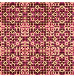 ornate geometry seamless pattern vector image