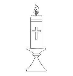 outline of a paschal candle vector image