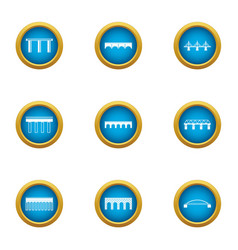 Overpass icons set flat style vector