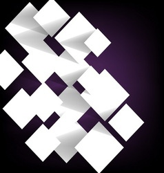 Paper square banner on violet background vector