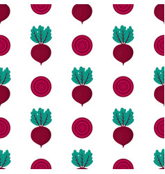 pattern with beets vector image