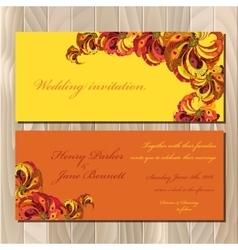 Peacock Feathers wedding invitation card vector