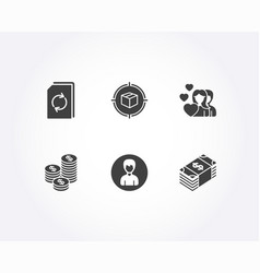 Person parcel tracking and update document icons vector