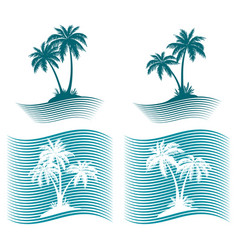 Pictograms palms silhouettes vector