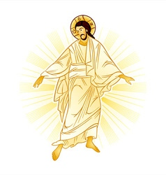 Resurrection of jesus vector