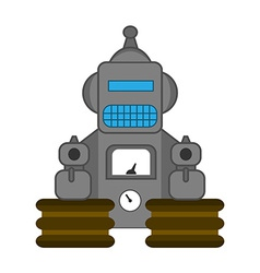 Retro style toy robot vector