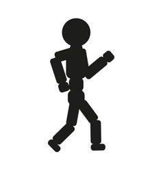 Running man sign black icon vector