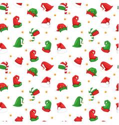 santa christmas hat seamless vector image