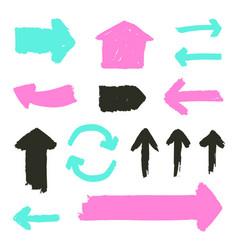 set grunge arrows vector image