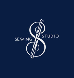 Sewing studio logo vector