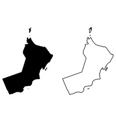 simple only sharp corners map sultanate of vector image