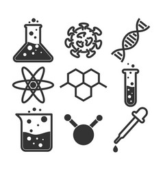simple science icon set vector image