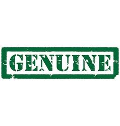 Stamp genuine vector
