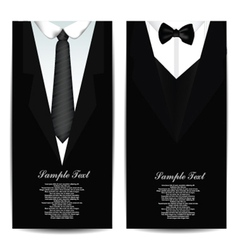 Tie Business cards vector