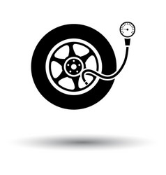 tire pressure gage icon vector image