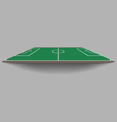 top and side view of soccer field green flat foot vector image